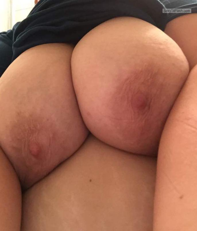 Tit Flash: My Very Big Tits (Selfie) - Bee from United States