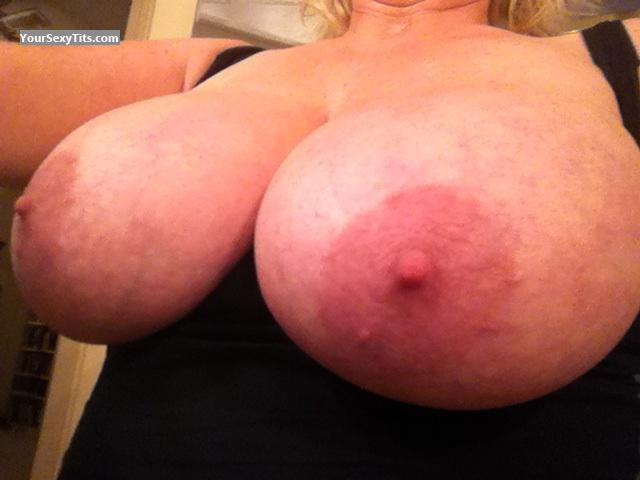 Tit Flash: My Very Big Tits (Selfie) - Blister from United States