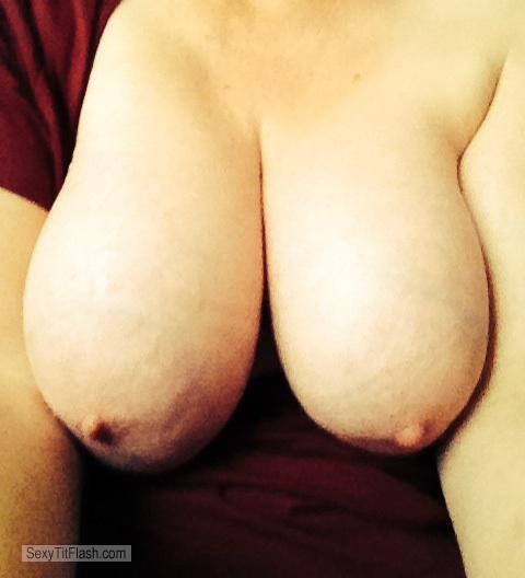 Tit Flash: My Very Big Tits (Selfie) - Sunny from Switzerland