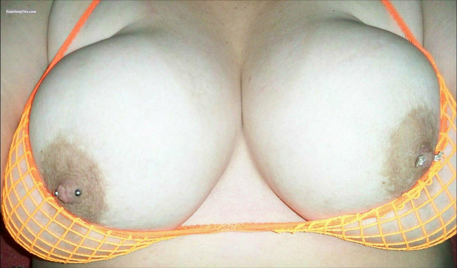 Tit Flash: My Very Big Tits (Selfie) - Jen from United StatesPierced Nipples