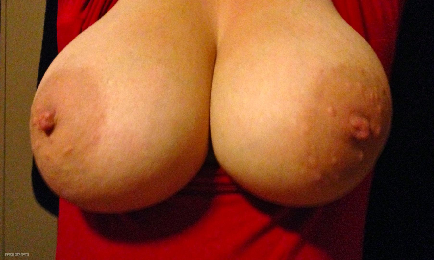 Tit Flash: My Very Big Tits - Thicknbusty from United States
