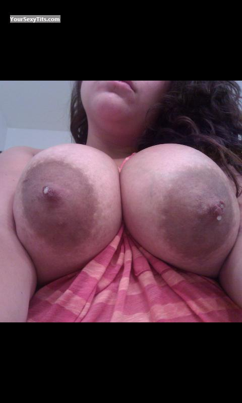 Tit Flash: My Very Big Tits (Selfie) - Adelie from United States