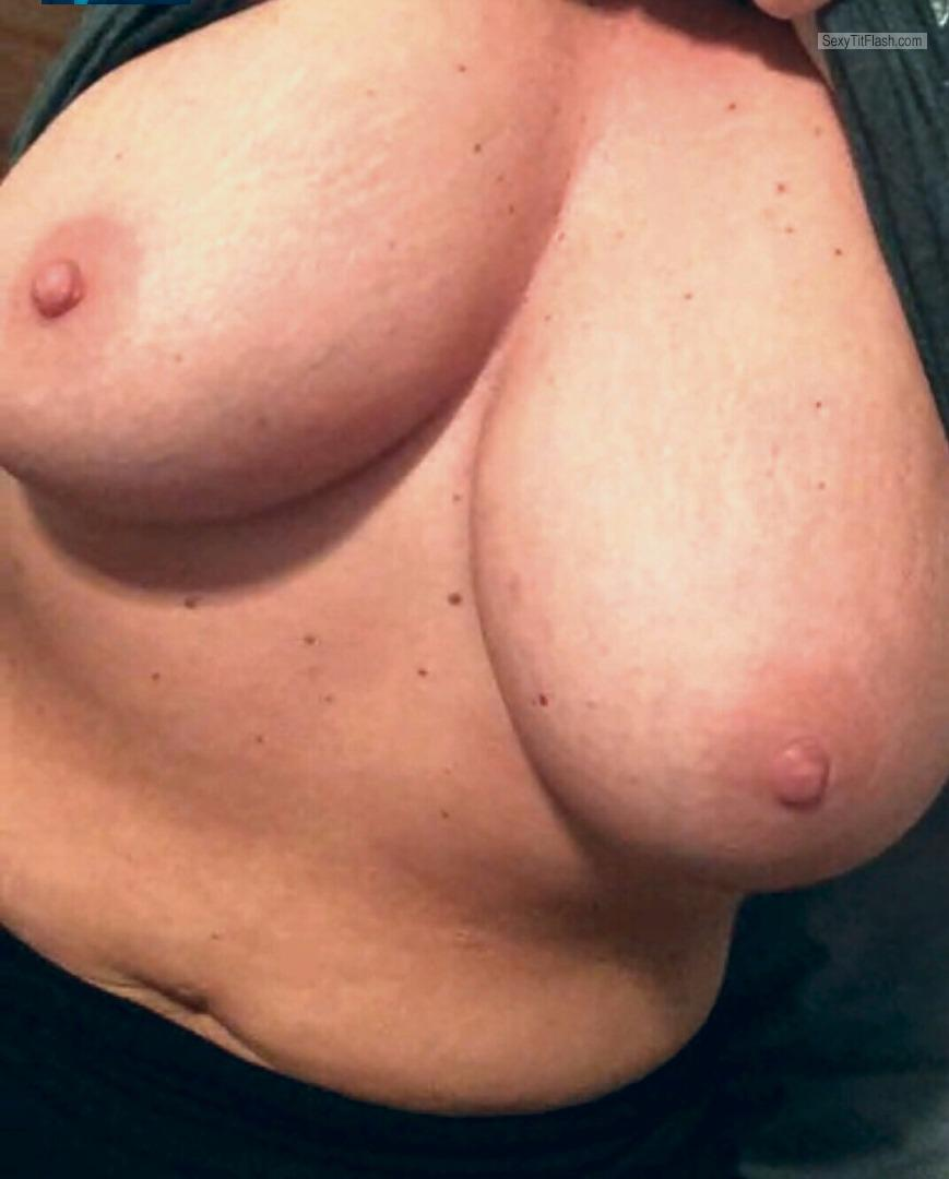 Tit Flash: My Very Big Tits (Selfie) - Big Natural from United States