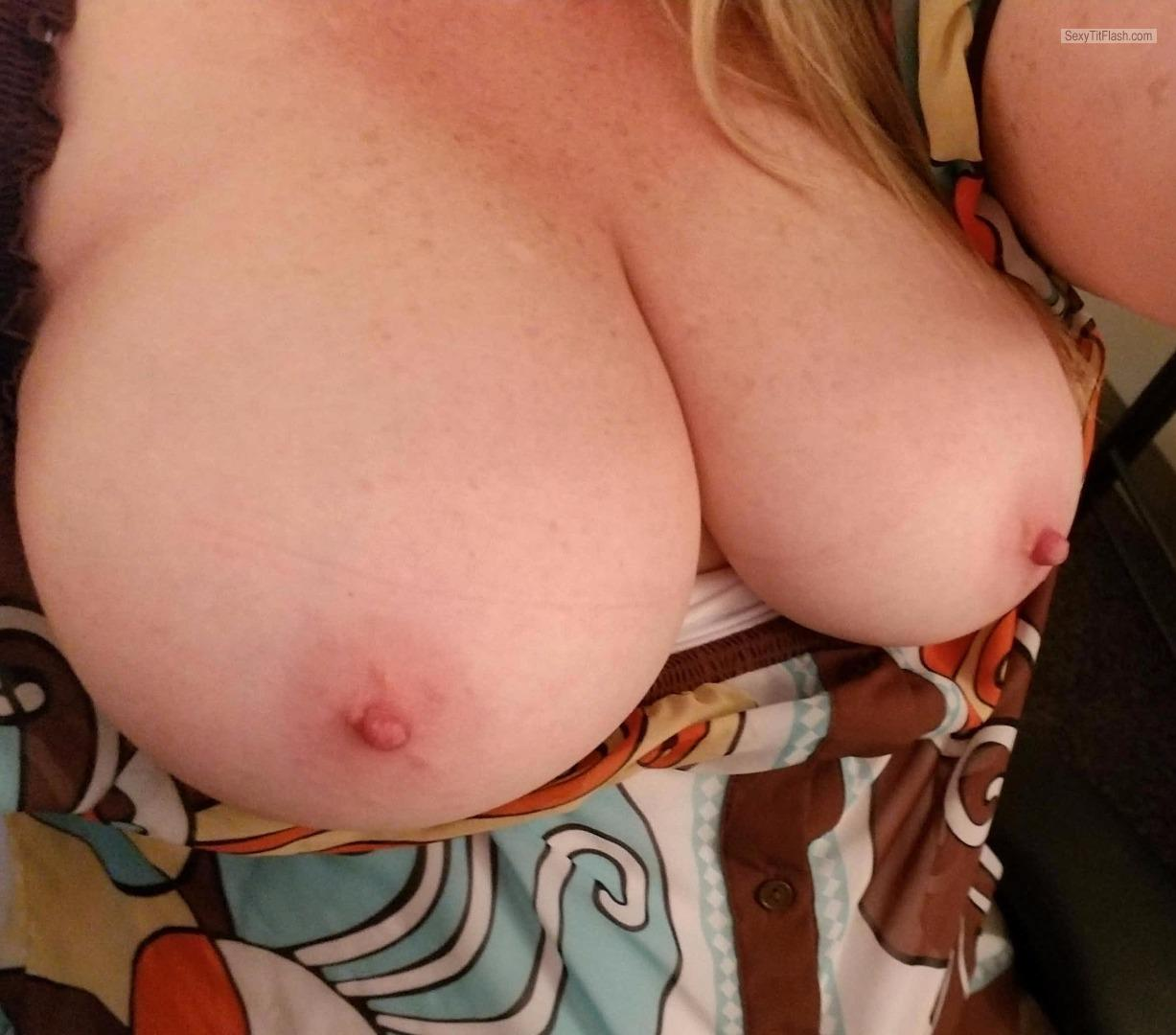 Tit Flash: My Very Big Tits (Selfie) - Lonely_wife from United States