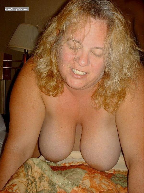 Tit Flash: Wife's Very Big Tits - Topless Candy from United States