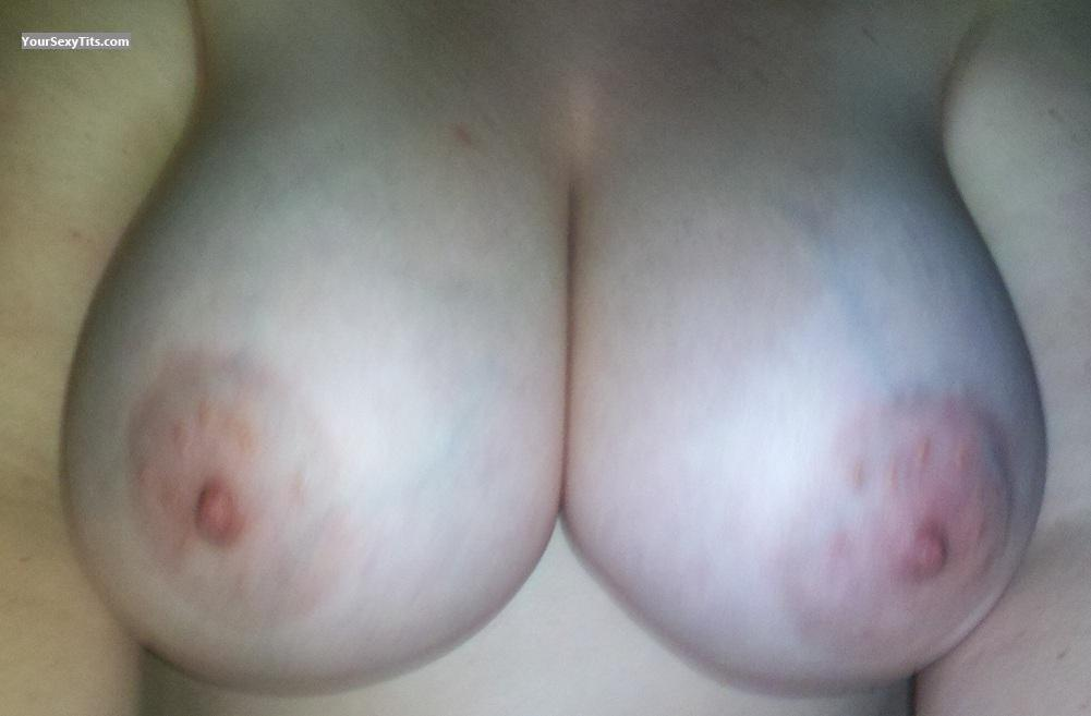 Tit Flash: Wife's Very Big Tits - Juggy Wife from United States