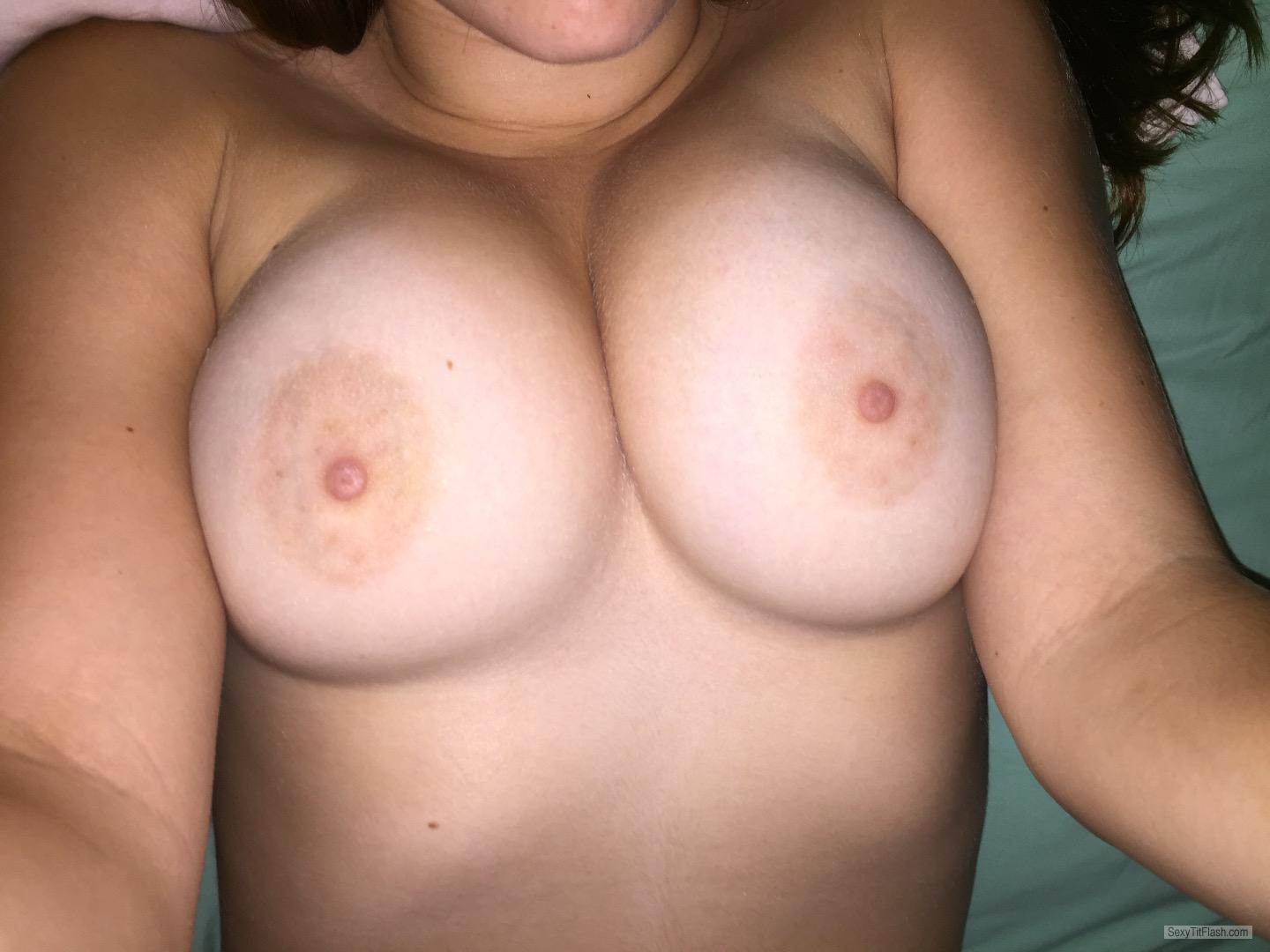 Tit Flash: My Medium Tits (Selfie) - Hotgirl from United States
