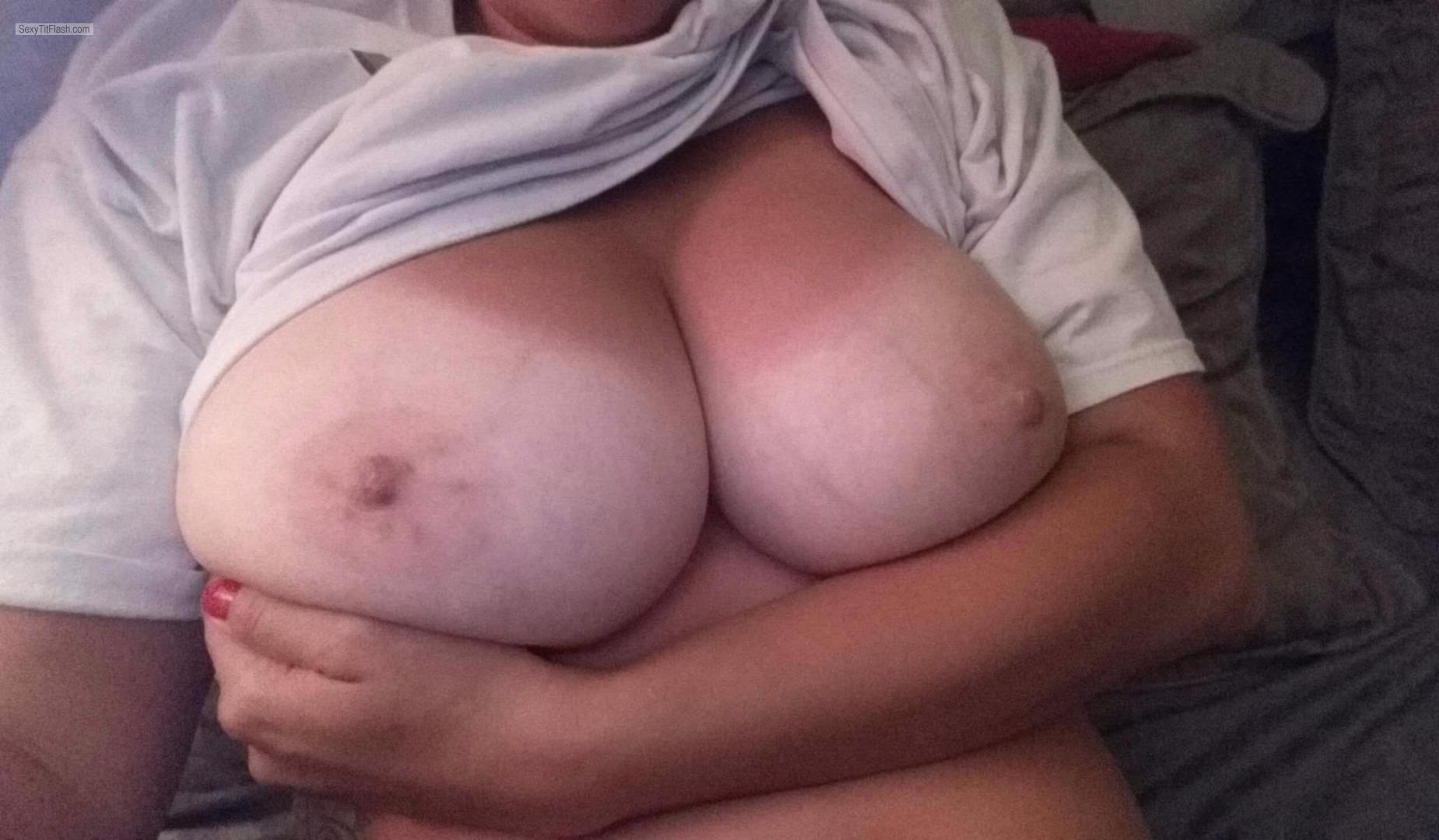Tit Flash: My Very Big Tits - Topless Sexy1 from United Kingdom