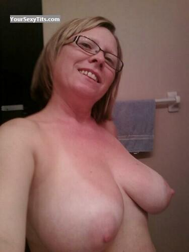 Tit Flash: My Big Tits (Selfie) - Topless Debbie from United States