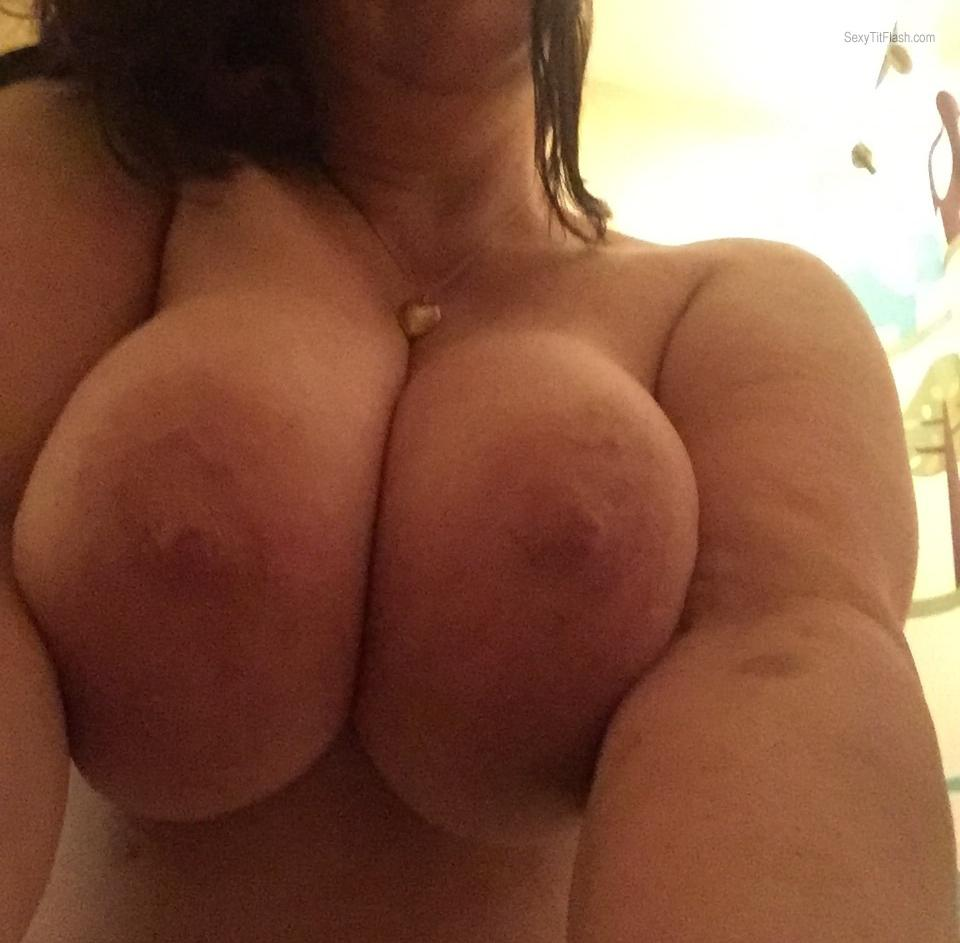 Tit Flash: My Very Big Tits (Selfie) - Brenda from United States