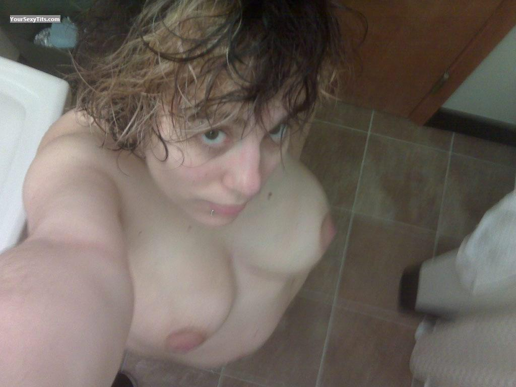 Tit Flash: My Very Big Tits (Selfie) - Topless Dreams from United States