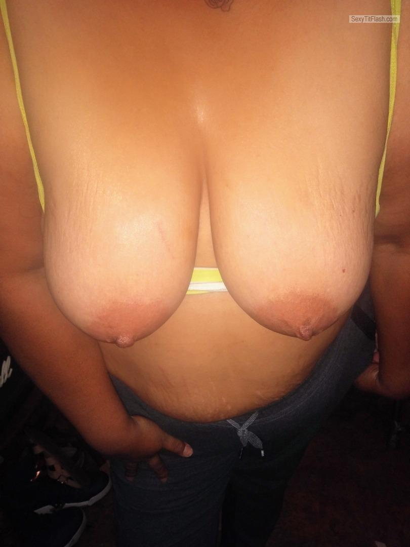 Tit Flash: My Very Big Tits (Selfie) - Lovemylife from United States