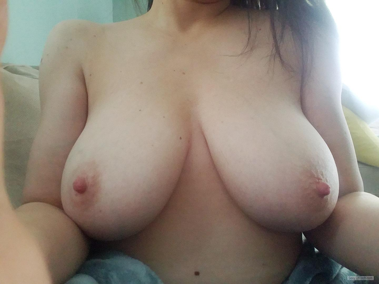 Tit Flash: My Very Big Tits (Selfie) - SMiowa2019 from United States