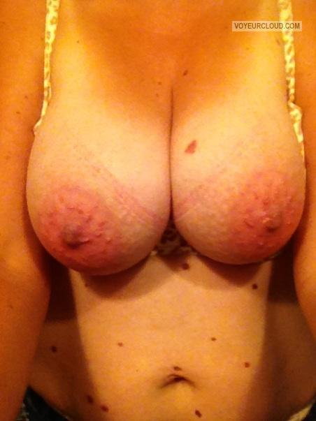 Tit Flash: Wife's Big Tits (Selfie) - Swallows from United States