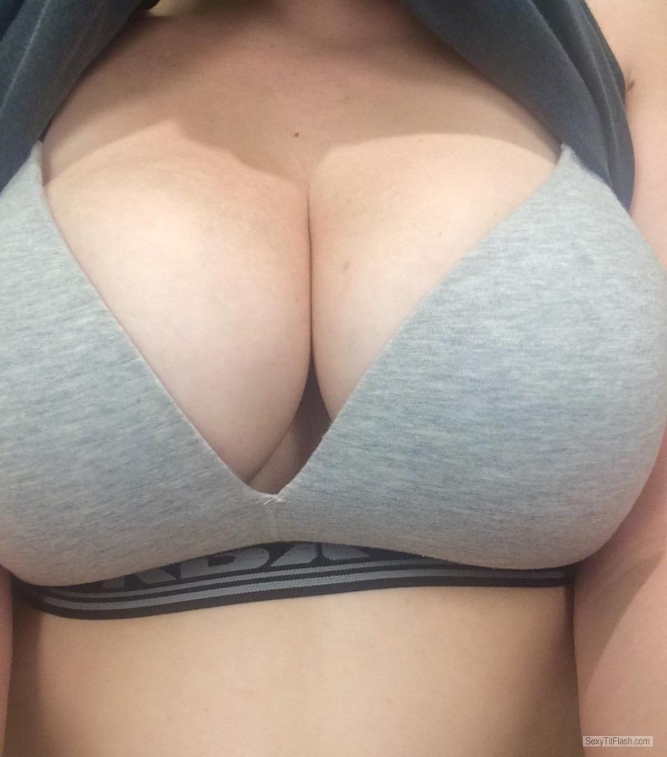 Tit Flash: My Very Big Tits - Ms. DD from United Kingdom