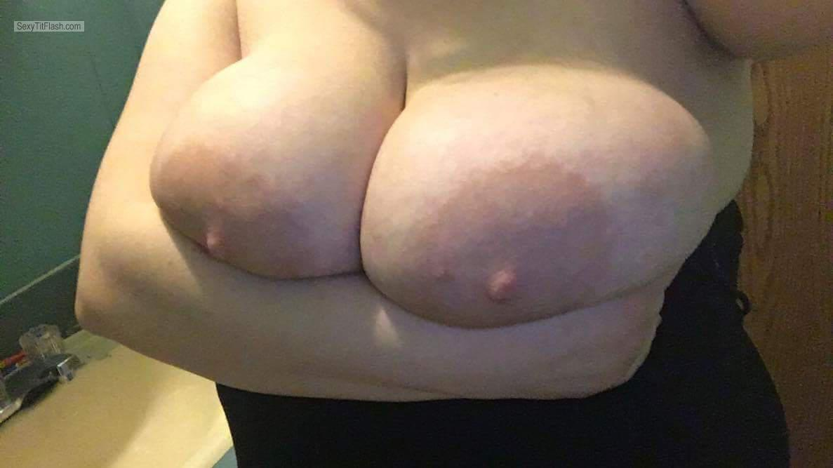 Very big Tits Of My Wife Selfie by Wifes Big Tits And Areolas