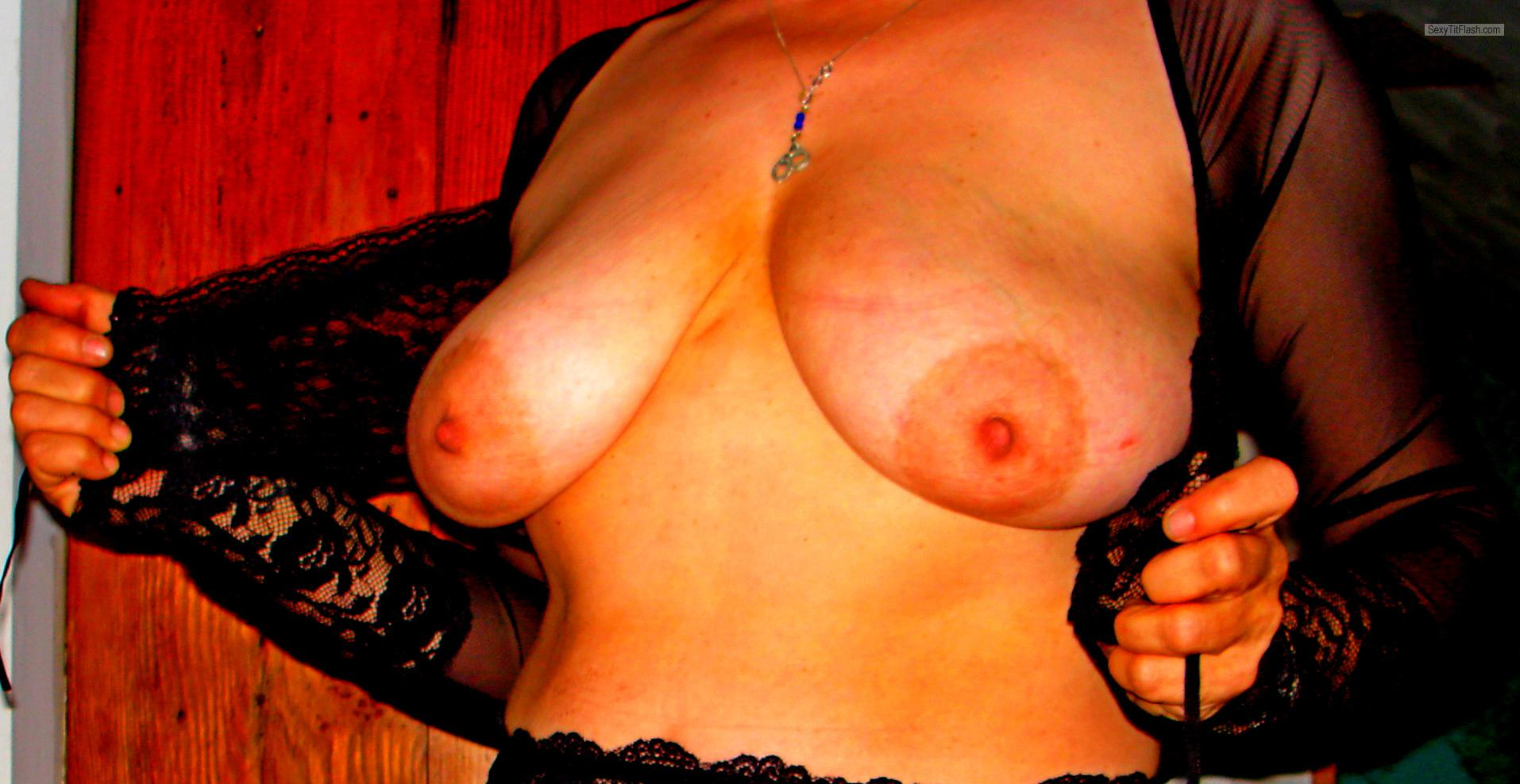 Tit Flash: My Very Big Tits - Lori from United States