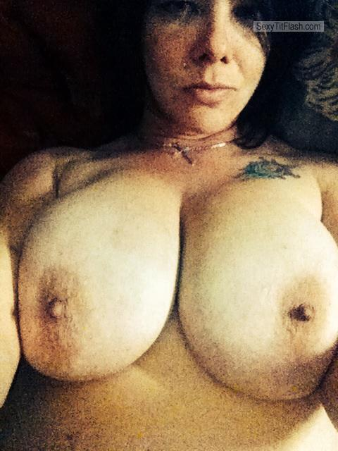 Tit Flash: My Very Big Tits (Selfie) - Topless Joie from United States
