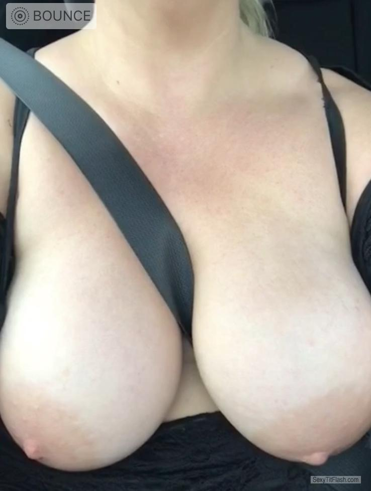 Tit Flash: My Very Big Tits - Topless DMD from Ireland