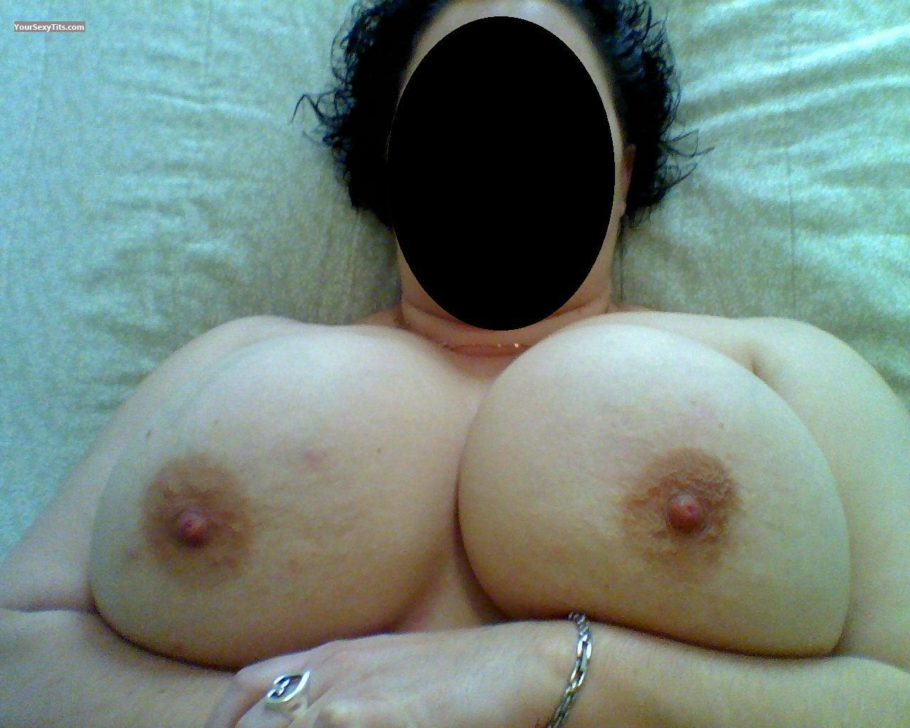 Tit Flash: Ex-Wife's Very Big Tits - Brrrrrrr from United States
