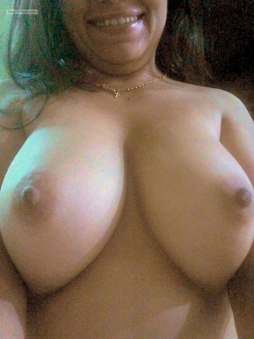 Tit Flash: My Friend's Very Big Tits (Selfie) - Morena from Brazil