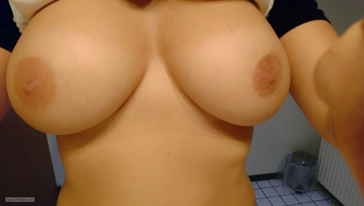 Very big Tits Of My Wife Selfie by Dkcouple