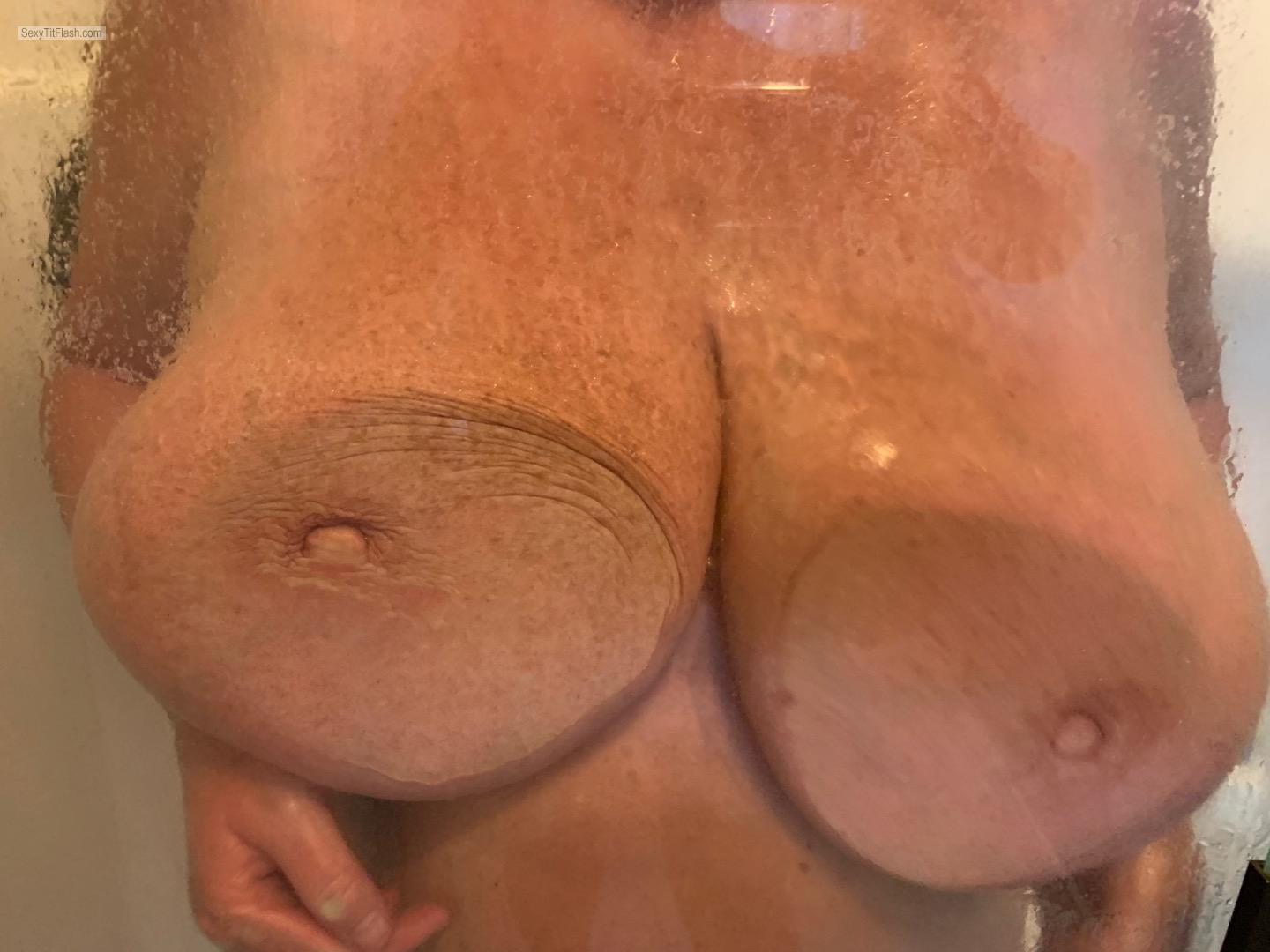 Tit Flash: Wife's Very Big Tits - Boobilicious from United States