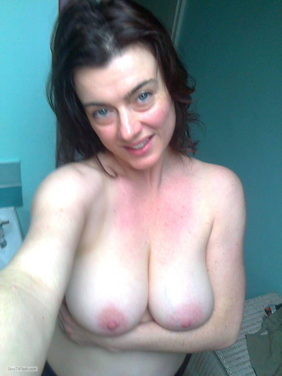 My Medium Tits Topless Selfie by Beth