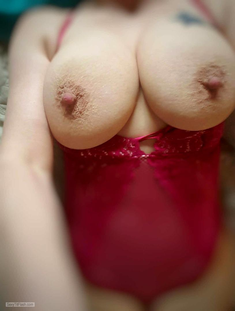 Very big Tits Of My Wife Selfie by My Wifes First Tits Out Pict