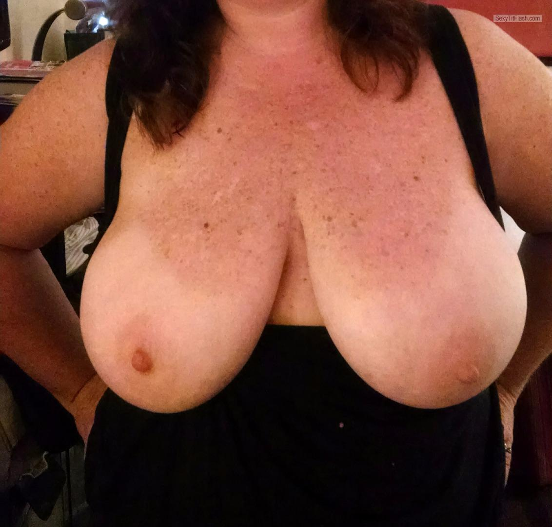 Tit Flash: My Tanlined Very Big Tits - Katherine from United Kingdom