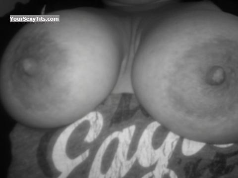 Tit Flash: Wife's Very Big Tits (Selfie) - Rack Attack from United States