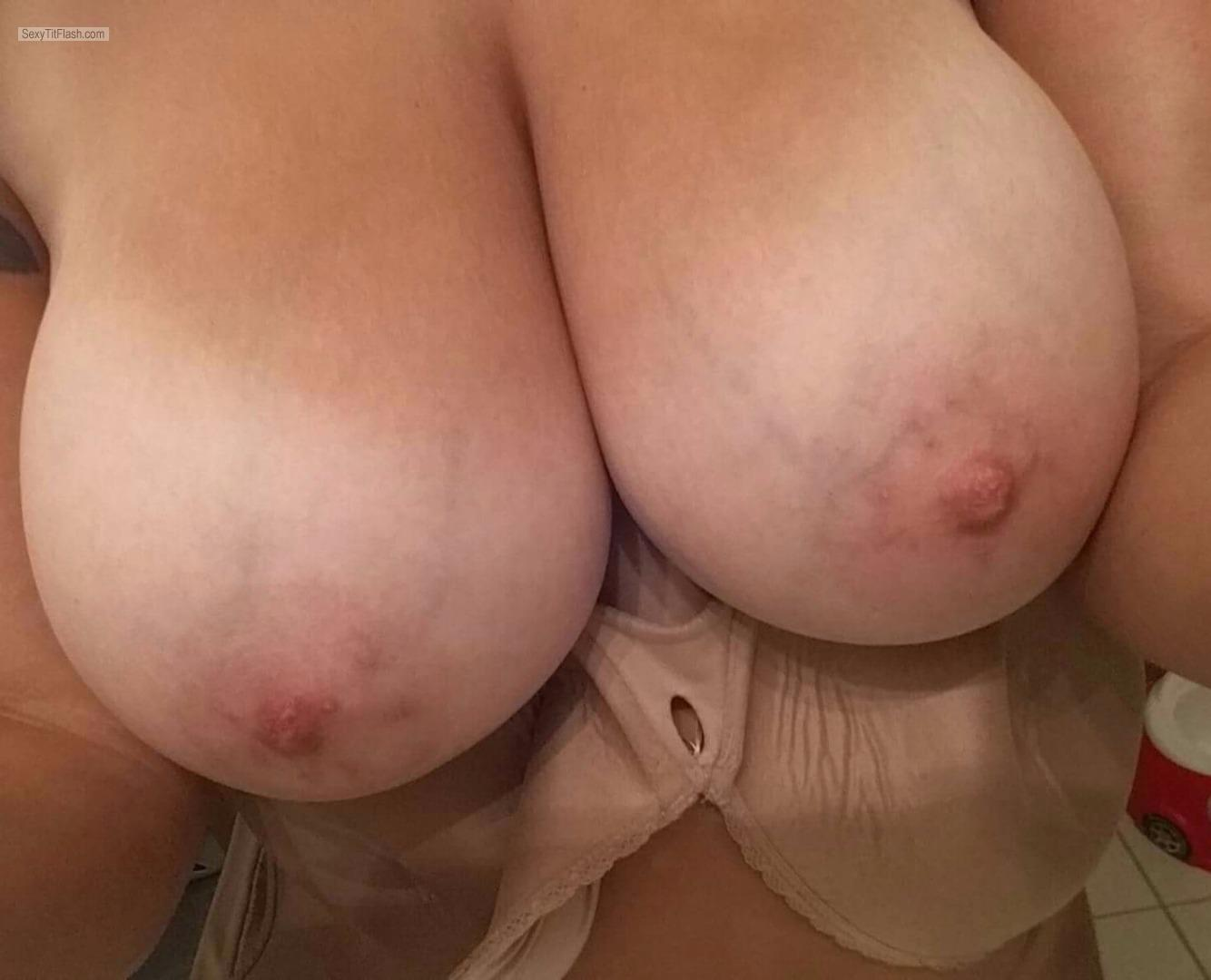 Tit Flash: My Very Big Tits - Topless Wifey from United Kingdom