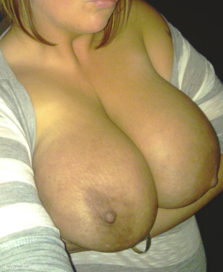 My Very big Tits Topless Selfie by At The Work Place Bored