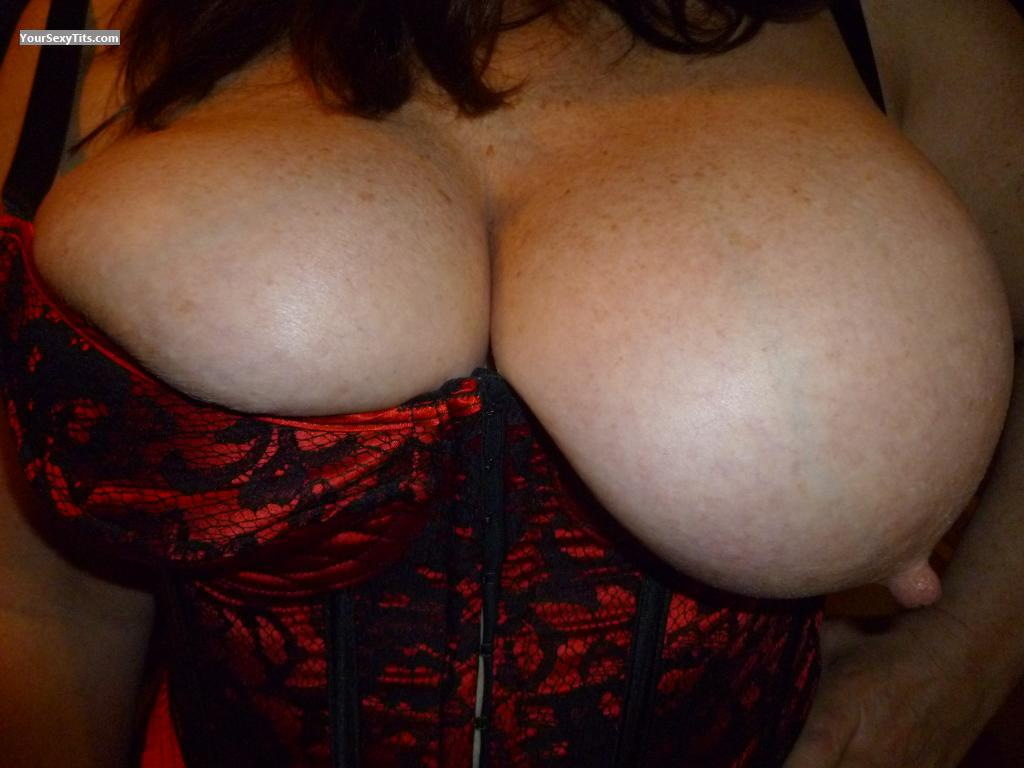 Tit Flash: Wife's Very Big Tits - BritsGal from United States