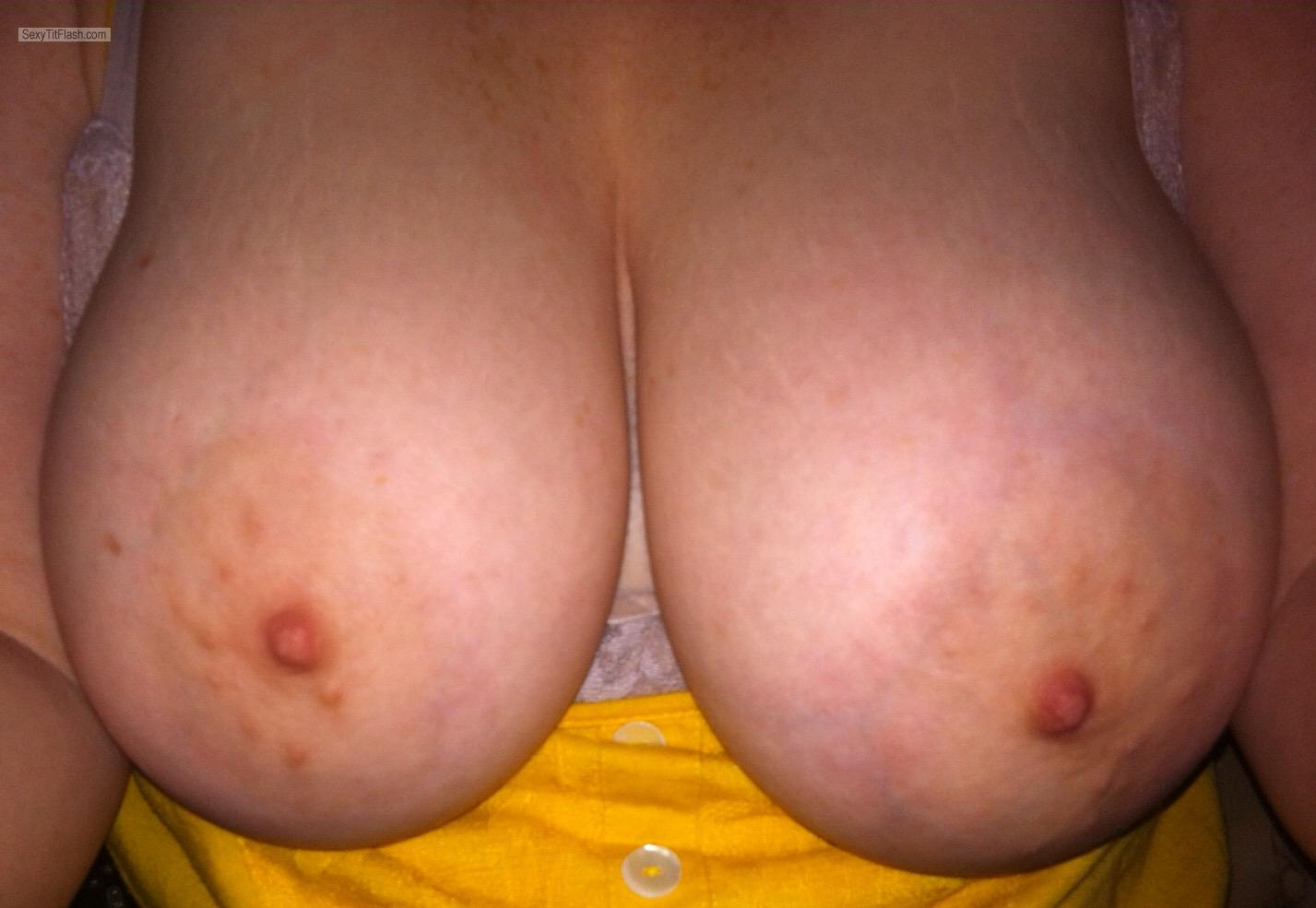 Very big Tits Of My Wife Selfie by Sweet Areolas