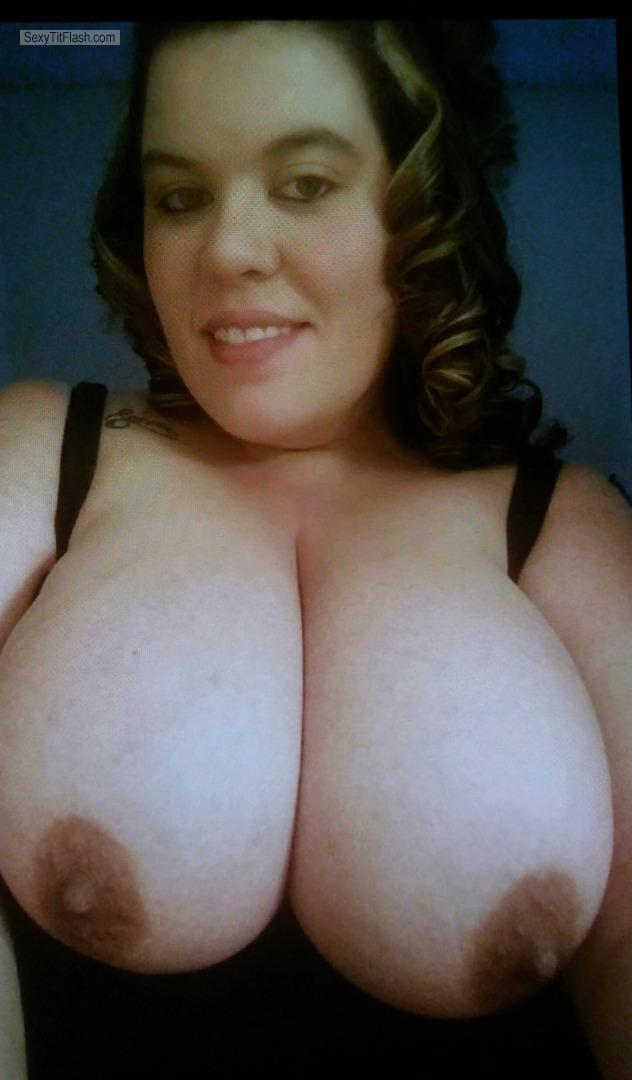 My Very big Tits Topless Selfie by Boobs
