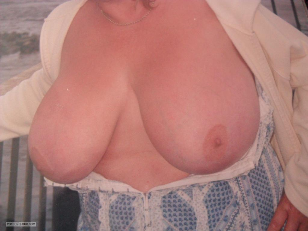 Tit Flash: My Very Big Tits - Babs from United Kingdom