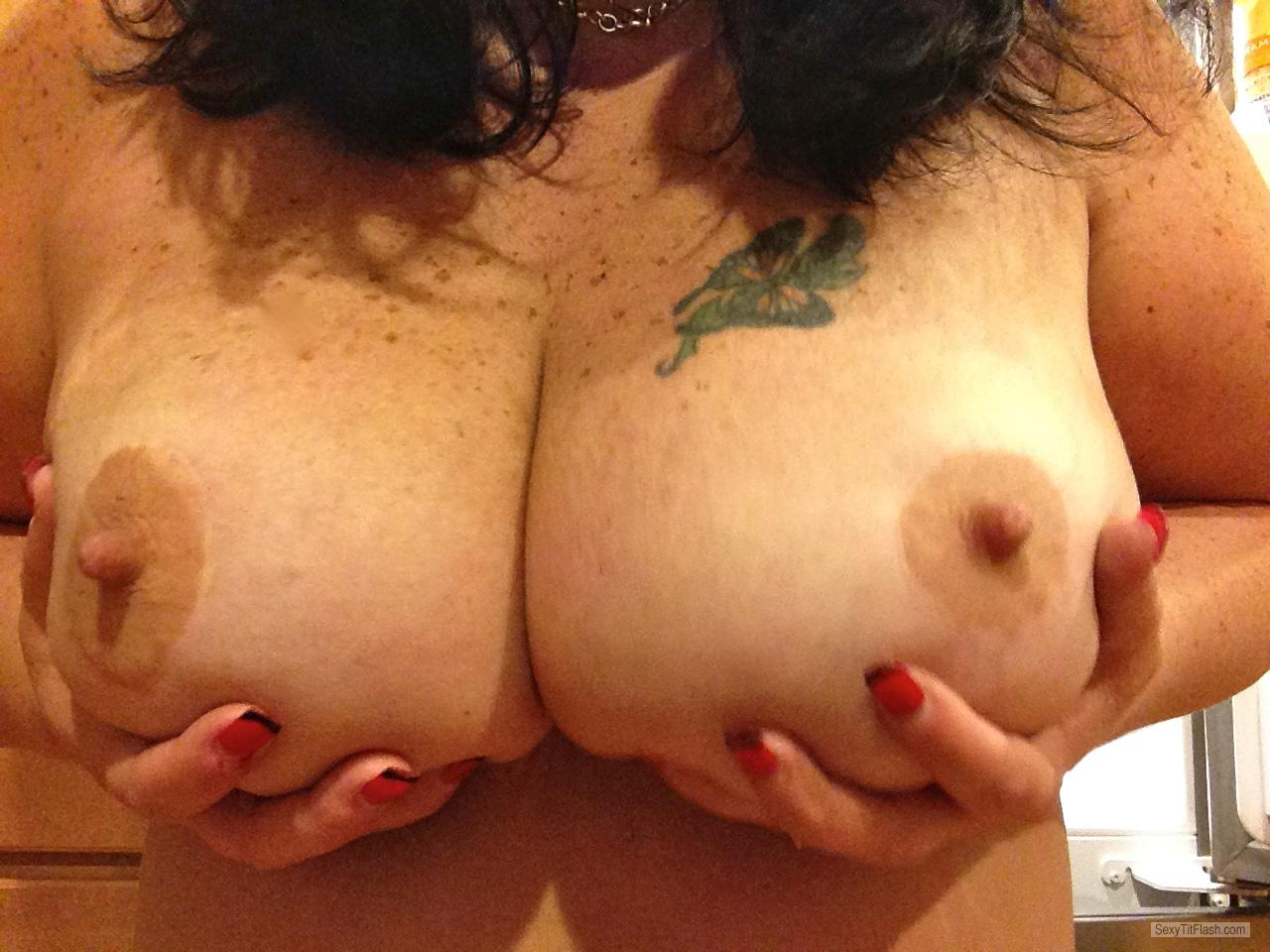 Tit Flash: My Big Tits (Selfie) - Raven from United States