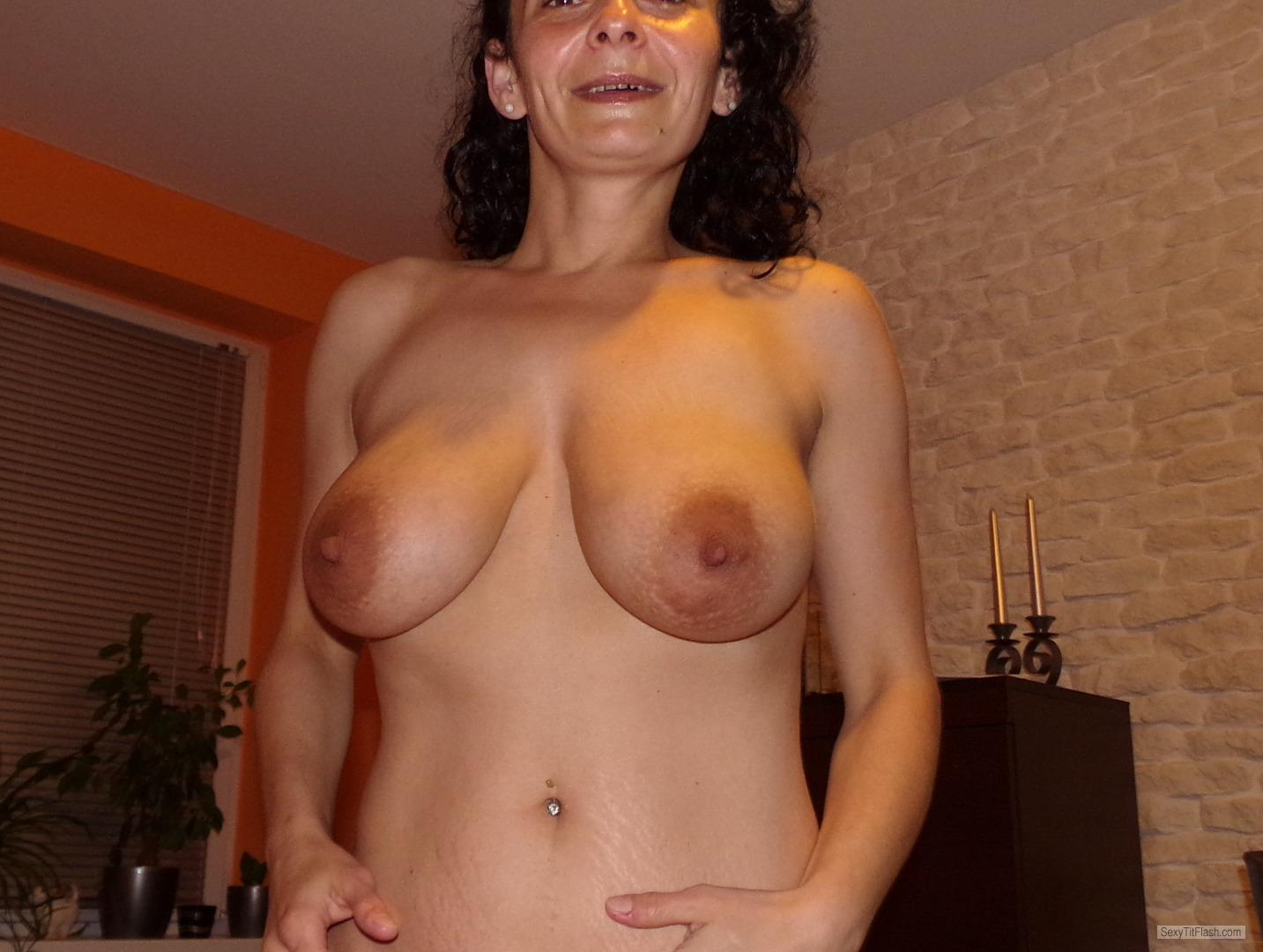 Tit Flash: My Very Big Tits - Topless Andzia from Poland