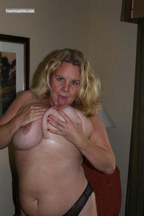 Tit Flash: My Very Big Tits (Selfie) - Topless Dutch Wife from United States