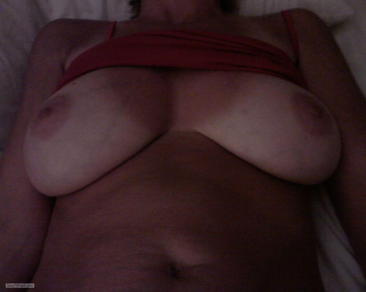Tit Flash: Wife's Very Big Tits With Strong Tanlines - Hot Wife 34DD from United States