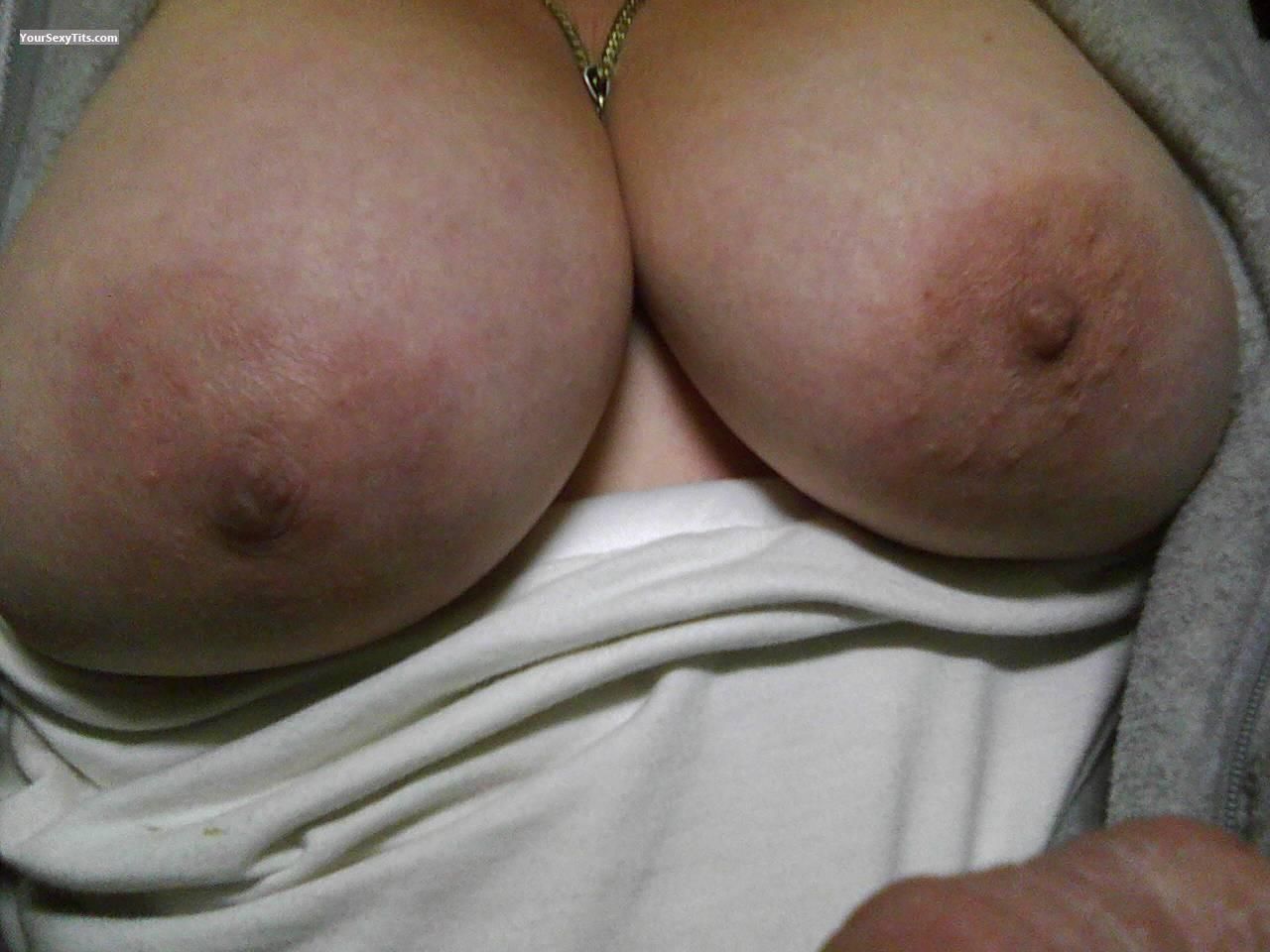 Tit Flash: My Very Big Tits (Selfie) - SuzyQ from United States