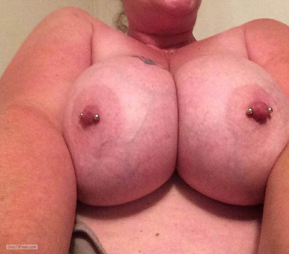 Very big Tits Of My Girlfriend Pierced Angel