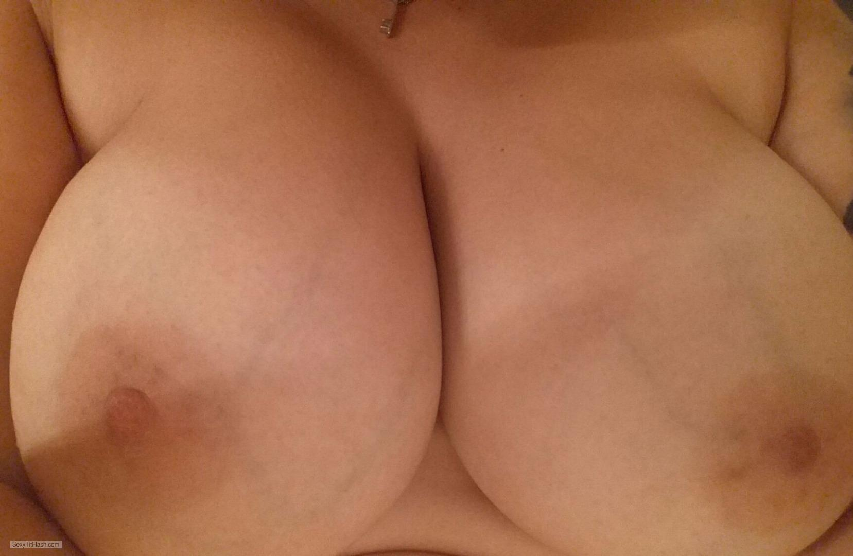 Tit Flash: My Very Big Tits (Selfie) - 38ddd from United Kingdom