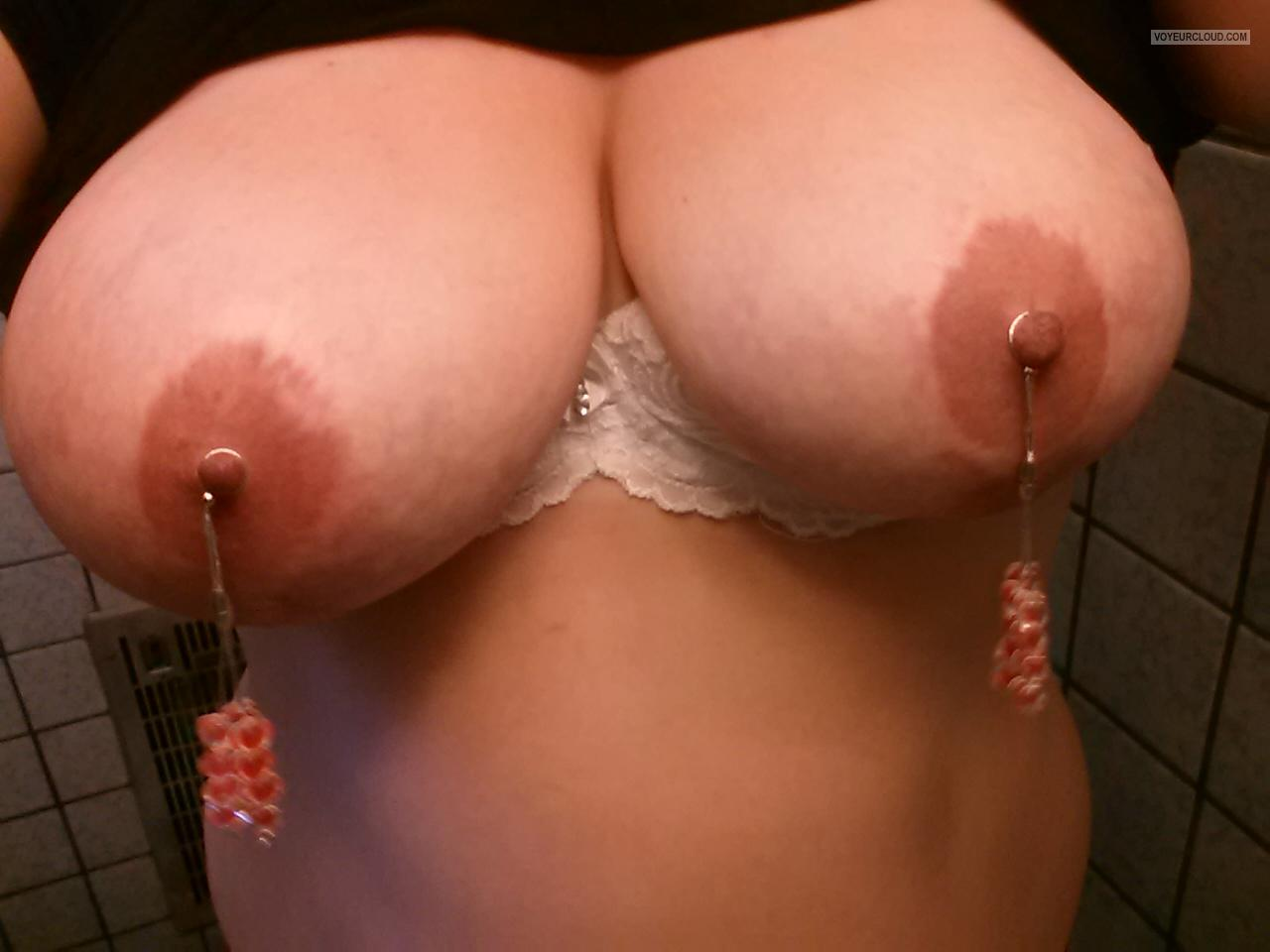 Tit Flash: My Very Big Tits (Selfie) - Tittie Bling from United States