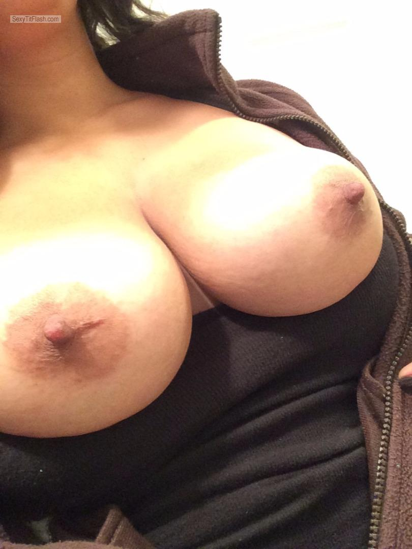 My Very big Tits Selfie by Cum On Them