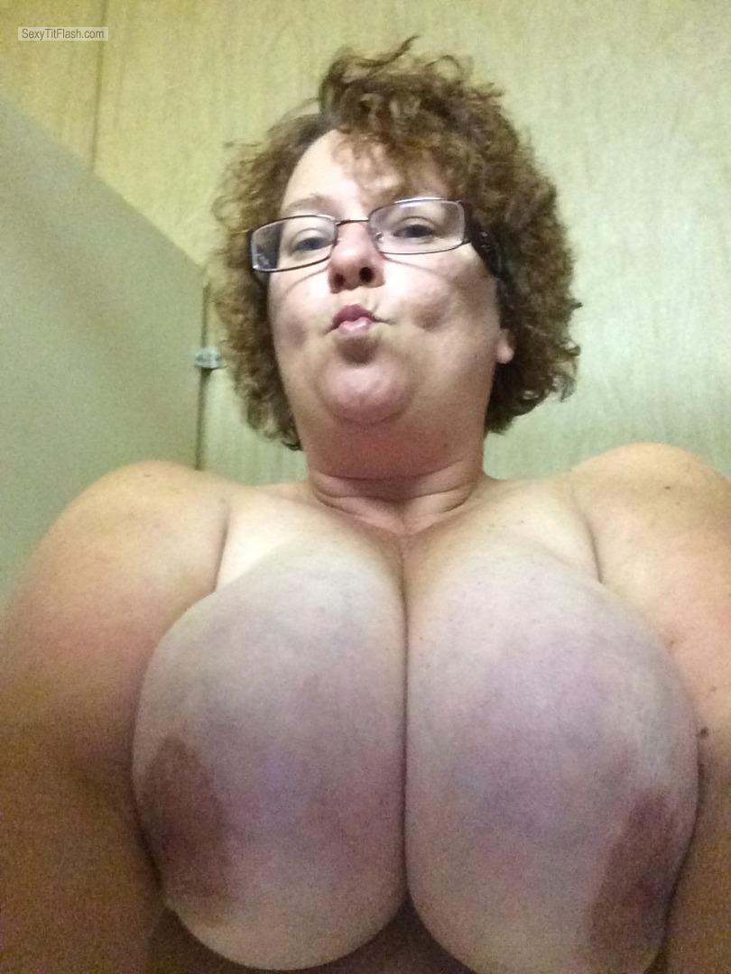 Very big Tits Of A Friend Topless Selfie by Candy