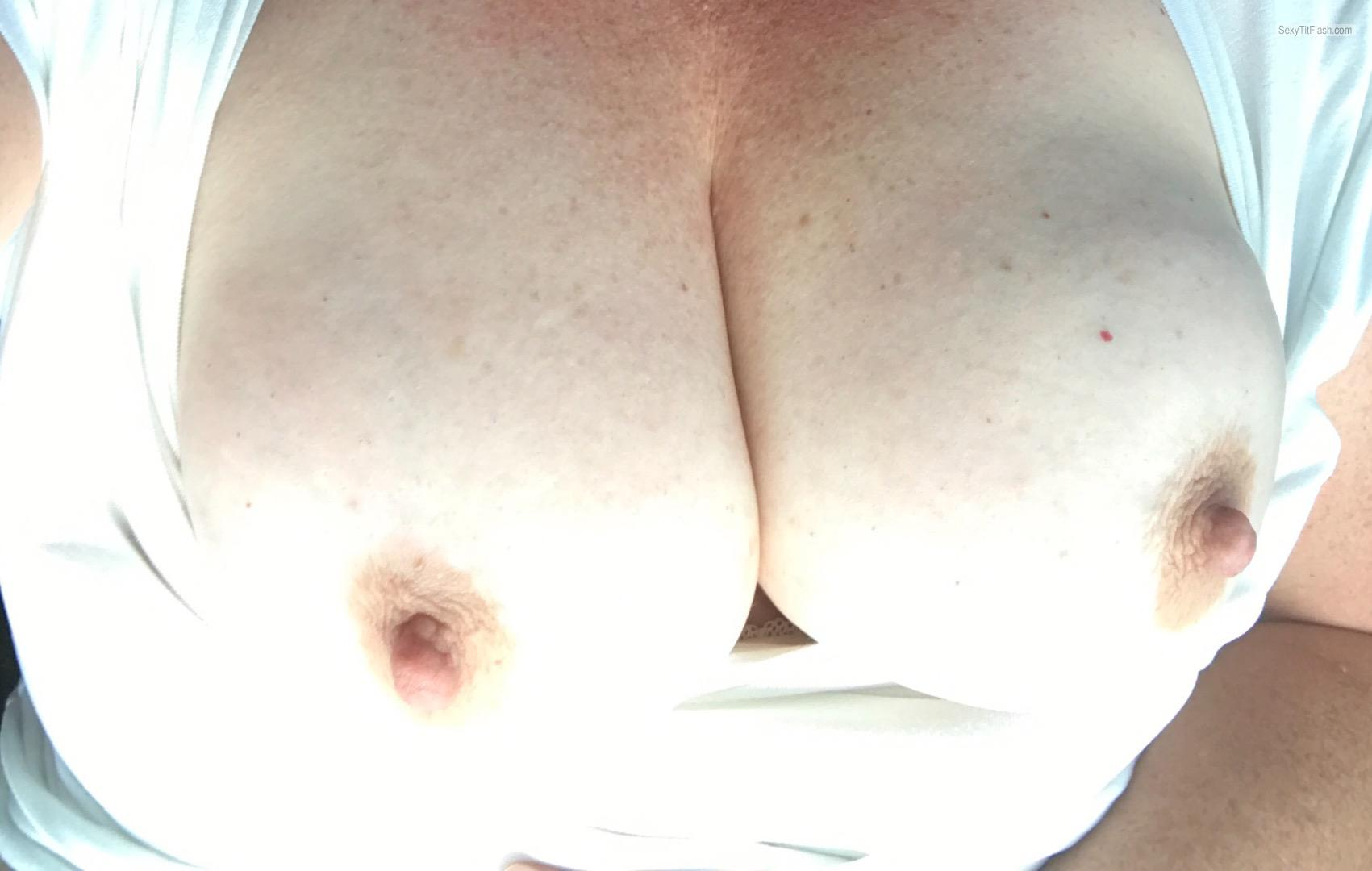Very big Tits Of My Wife Selfie by Cmp