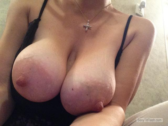 Tit Flash: My Very Big Tits (Selfie) - DD from United States