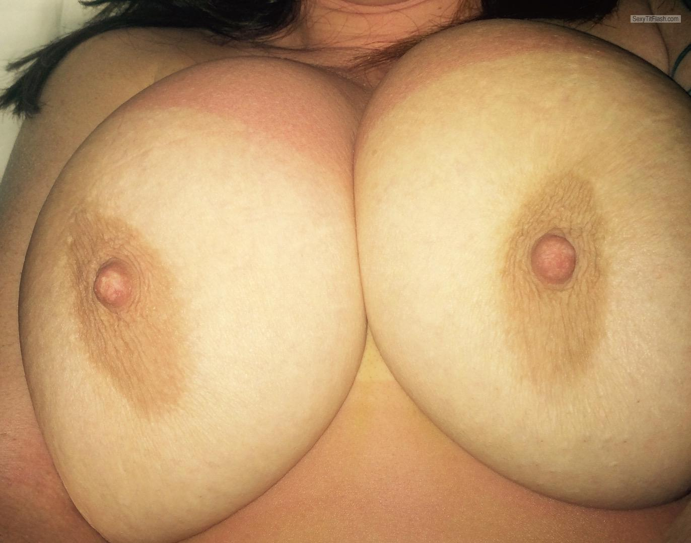 Tit Flash: My Tanlined Very Big Tits (Selfie) - R.BOOBIEs from Canada